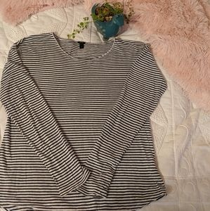J. Crew striped long sleeve tee